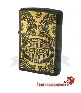 Zippo Scroll Green