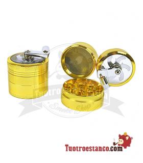 Grinder molinillo 4 piezas Oro