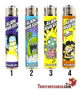 Encendedor Atomic Karikato Alien Invasion