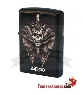 Zippo Winged Skull