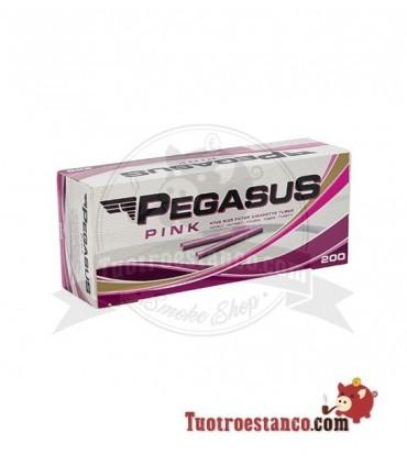 Tubos Pegasus Rosa 1 caja de 200 unidades
