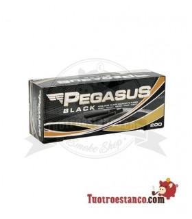 Tubos Pegasus Negro1 caja de 200 unidades