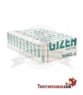 Tubos Gizeh Mentolados - 10 cajitas de 100 unidades