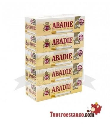 Tubos Abadie 200 filtro largo - 5 cajitas de 200 unidades