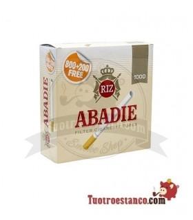 Tubos Abadie 1 caja de 1000 unidades