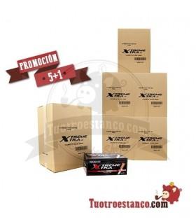 5 Cajones + 1 Gratis de Tubos X-TRA filtro largo 48 cajitas de 1100 tubos
