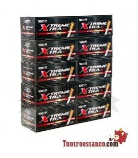 Tubos X-Trem de filtro largo 10 cajitas de 125 unidades