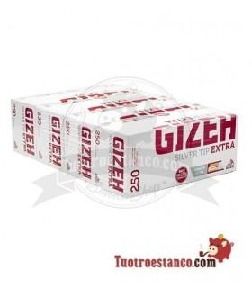 Tubos Gizeh 250 de Filtro Largo - 4 cajitas de 250 unidades