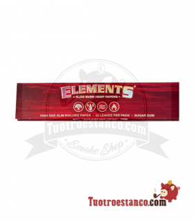 Papel de cañamos Elements king Size( Rojo)