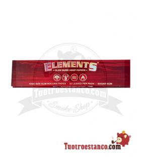 Papel de cañamos Elements king Size( Rojo)