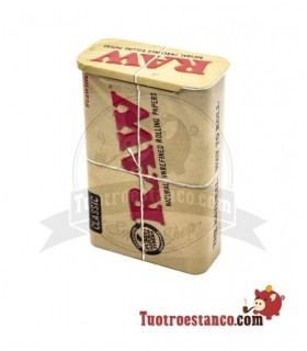 Pitillera metálica Raw 20 cigarrillos