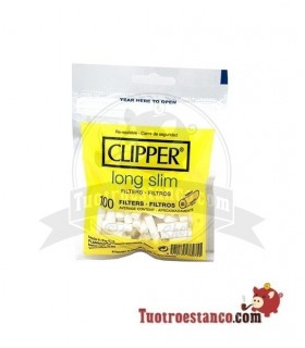 Filtros Clipper Long Slim 100u 6mm