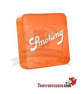 Pitillera Metálica Smoking Naranja 20 cigarrillos
