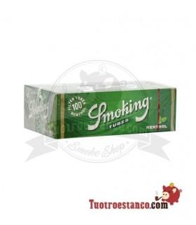 Tubos Smoking sabor Menta 1 cajita de 100 tubos