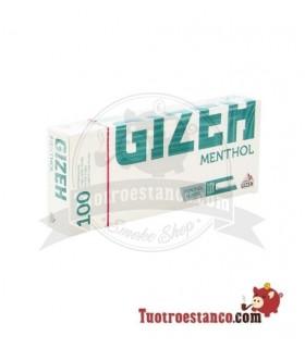 Tubos Gizeh sabor de menta 1 cajita de 100 tubos
