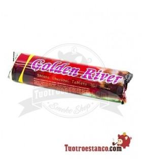 Carbón Golden river 40mm sabores