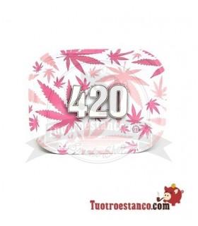 Bandeja metálica 420 rosa