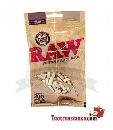 Filtros Raw Slim 6mm celulosa 200 filtros