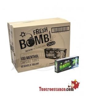 Tubos Fresh Bomb! Menta 50 cajitas de 100 tubos (Cajón)
