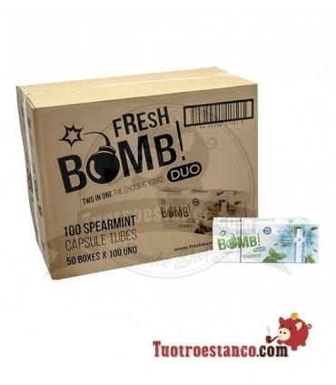 Tubos Fresh Bomb! Hierbabuena - 50 cajitas de 100 tubos (Cajón)