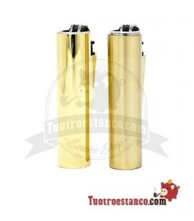 Encendedor micro Clipper + Funda Oro