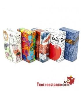 Cubrecajetillas de cartón diseños