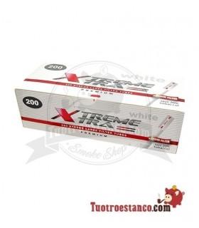 Tubos X-Trem filtro largo Blancos 200 tubos