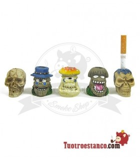 Mini Cenicero para un cigarrillo Skulls and Mushrooms