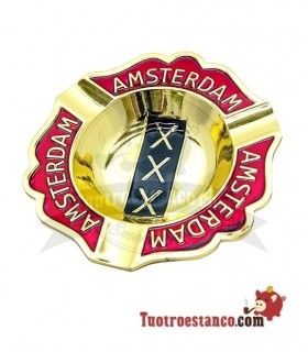 Cenicero metal solido Amsterdam Oro