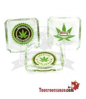 Cenicero Cristal Hoja Premium