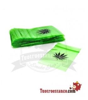 Bolsa Hermética Zip transparente Verde 6x8cm 100 bolsitas
