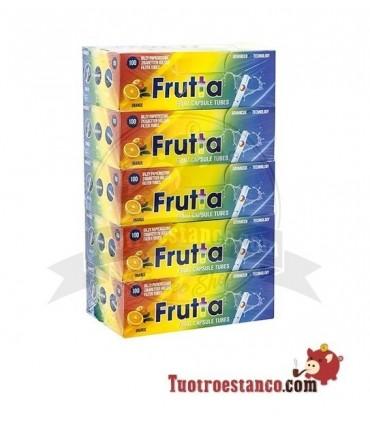 Tubos Frutta Naranja Cápsula 5 cajitas de 100 tubos