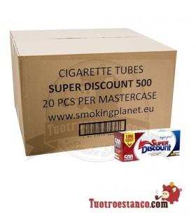 Tubos Discount 20 cajas de 500 tubos