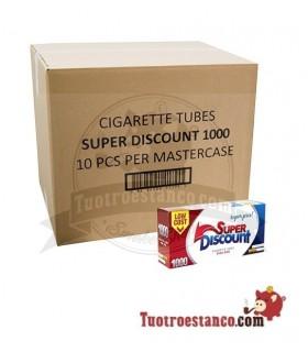 Tubos Discount 10 cajas de 1000 tubos