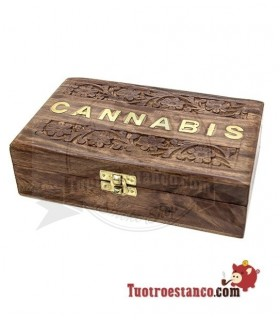 Caja de madera WD92 Canna 20 x 13 cm