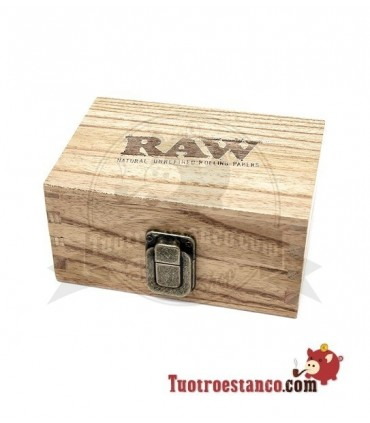 Caja de madera Raw 12,6 x 8,5 cm