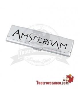 Estuche para papel de fumar KS Amsterdam plata