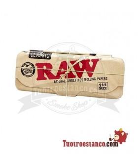 Estuche metálico papel de fumar 1 1/4 Raw