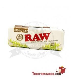 Estuche para papel de fumar 1 1/4 Raw Orgánico