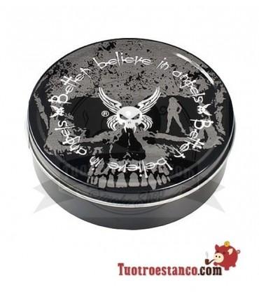 Envase metal Round Box Better Believe in Angels Grey 9 cm