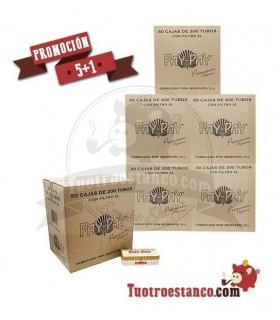 5 Cajones + 1 Gratis de Tubos 300 cajas de Pay-Pay filtro largo 200 tubos