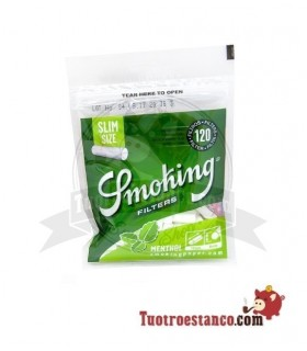Filtros Smoking de Menta de 6mm 120 filtros