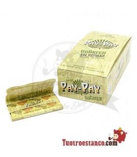 Papel Pay-pay Alfalfa verde Doble ventana de 70 mm - 25 libritos