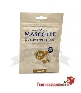 Filtros Mascotte orgánicos 6 mm 120 filtros