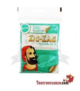 Filtros Zig-Zag de Menta 6 mm 150 filtros