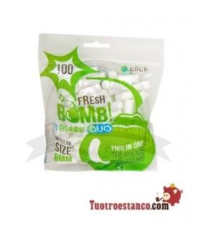 Filtros Fresh Bomb 8mm Hierbabuena con Click 100 filtros