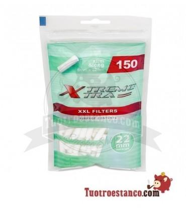Filtros X-Trem 6 mm largos MENTOLADOS 150 filtros