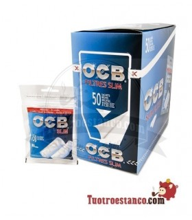 Filtros OCB Slim 6 mm - 50 bolsitas de 150 filtros