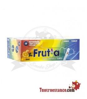Tubos Frutta Naranja Capsula 1 cajita de 100 tubos