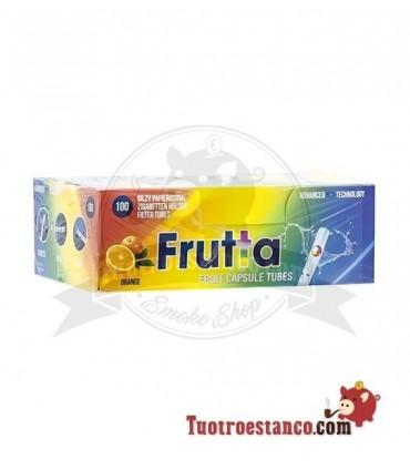 Tubos Frutta Naranja y Menta Capsula 1 cajita de 100 tubos